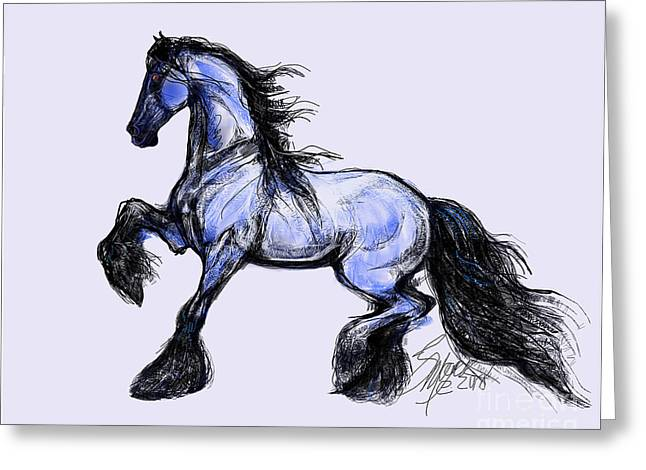 Friesian Mare Greeting Card