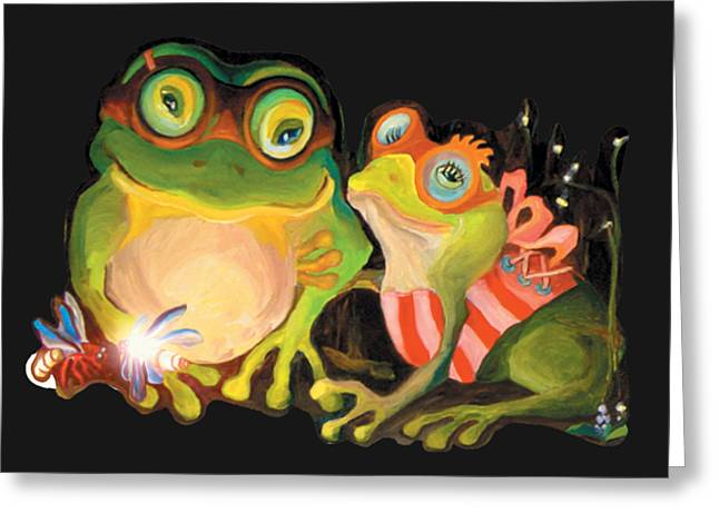 Frogs Overlay  Greeting Card