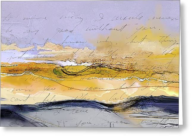 Greeting Card featuring the digital art From Kearns Field by Gina Harrison