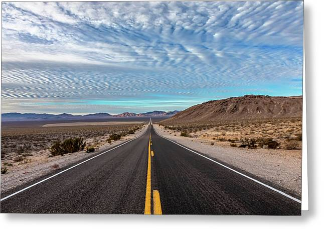 From Nevada To California Greeting Card