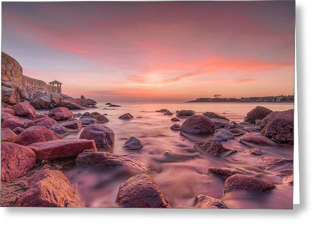 Front Beach Dawn Greeting Card