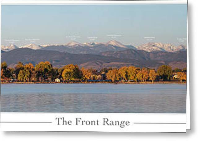 Front Range With Peak Labels Greeting Card