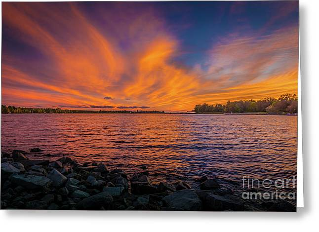 Frontenac Ferry Sunset Greeting Card