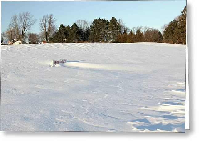 Frost Delay Greeting Card