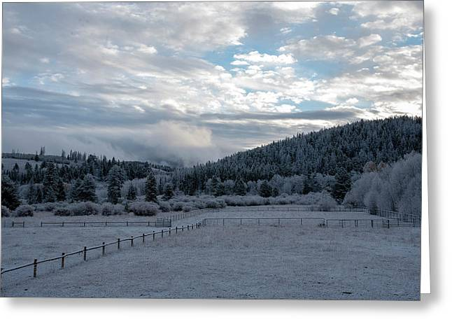 Frosted Sunrise 1 Greeting Card