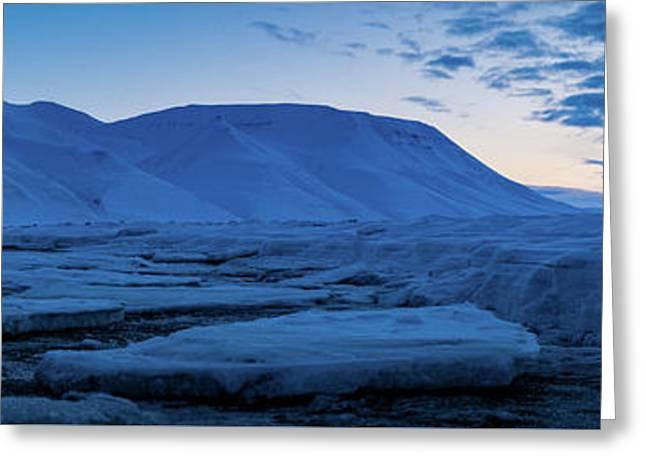 frozen coastline near Longyearbyen Greeting Card