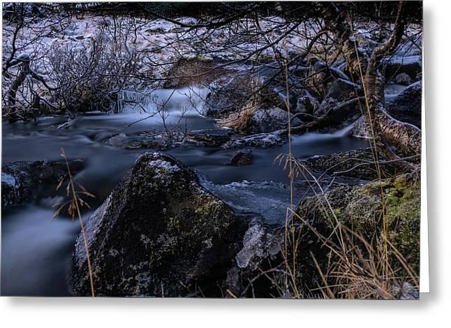 Frozen River II Greeting Card
