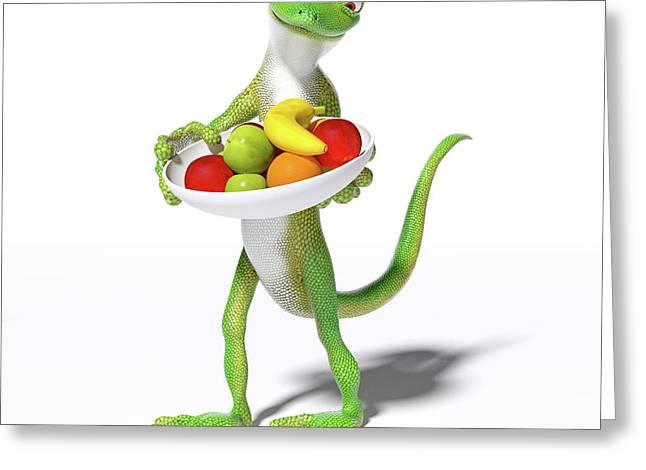 Fruitful Gecko Greeting Card