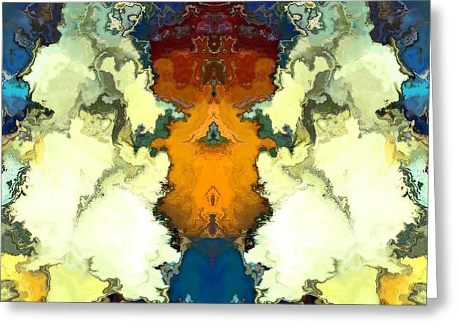 Greeting Card featuring the digital art Fuego  by A z Mami
