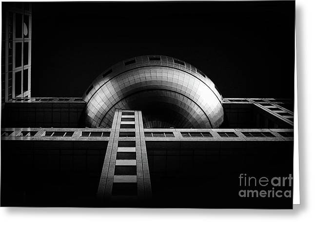Fuji Tv Building In Tokyo Greeting Card by Delphimages Photo Creations