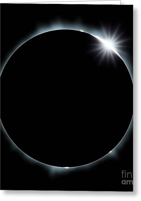 Full Eclipse Of The Sun On Black Greeting Card