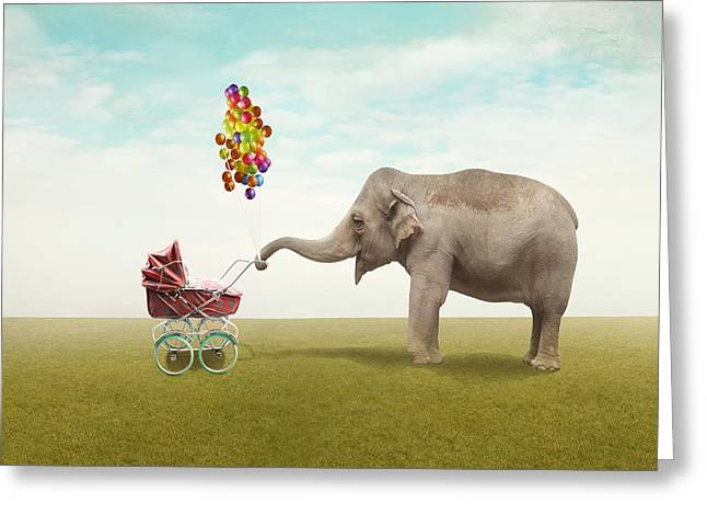 Funny Illustration With A Beautiful Greeting Card