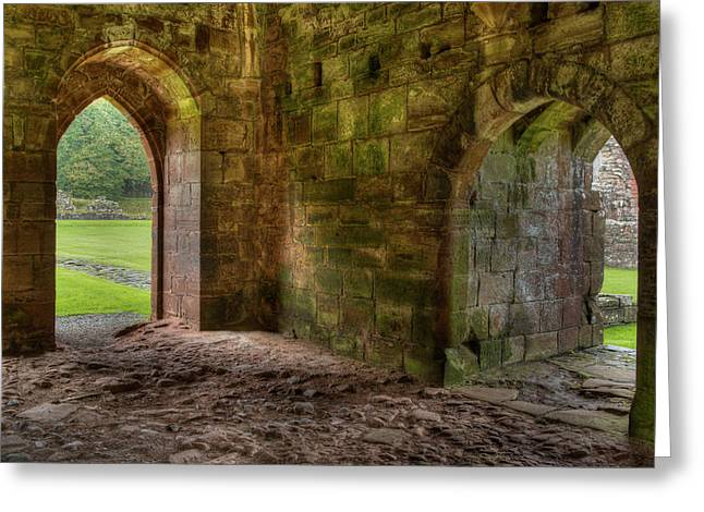 Greeting Card featuring the photograph Furness Abbey Arches by Dennis Dame