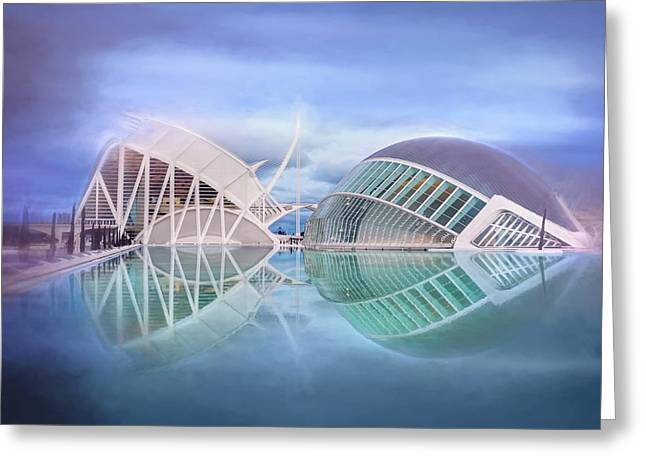 Futuristic Architecture Of Modern Valencia Spain  Greeting Card