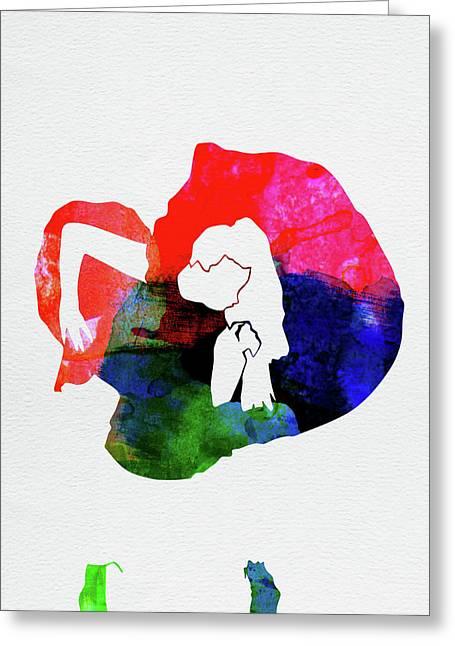 Gaga Watercolor Greeting Card