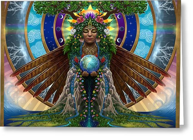 Gaia Sacred System Greeting Card