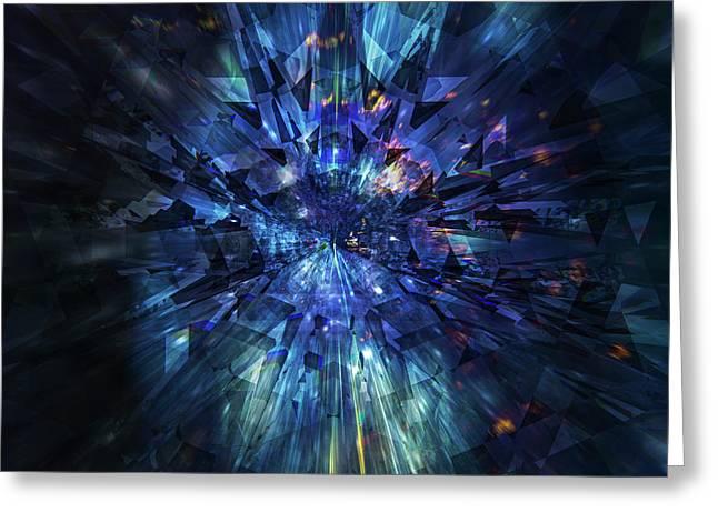 Galactic Crystal Greeting Card