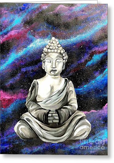 Galaxy Buddha  Greeting Card
