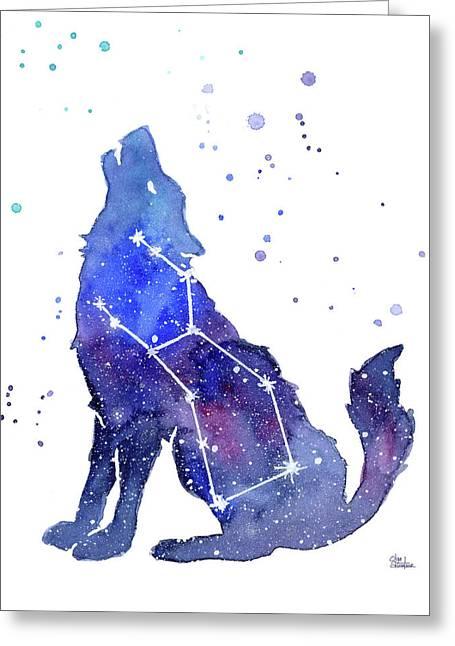 Galaxy Wolf - Lupus Constellation Greeting Card