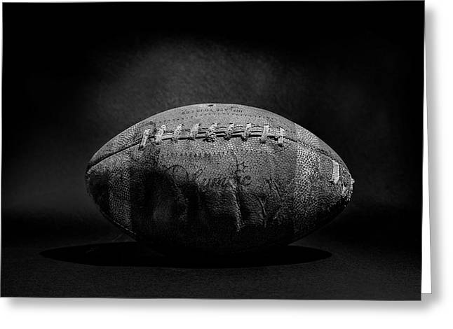 Game Ball - Black And White Greeting Card