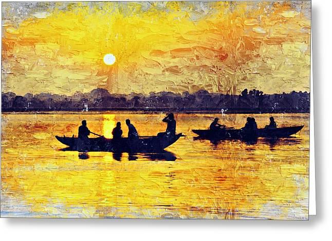 Ganges River Greeting Card