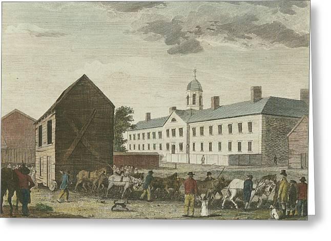 Gaol In Walnut Street Greeting Card