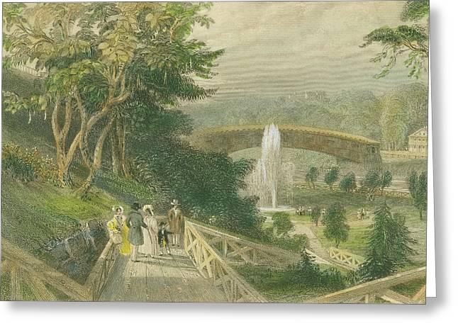 Garden At Fairmount Greeting Card