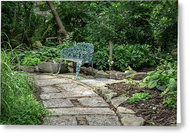 Greeting Card featuring the photograph Garden Bench by Dale Kincaid