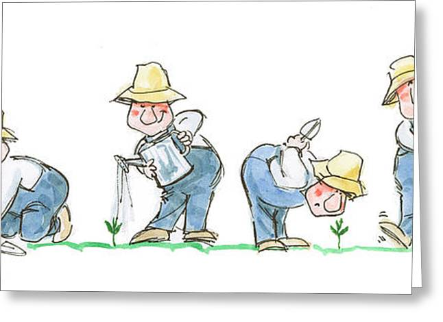 Garden Guy Planting Greeting Card