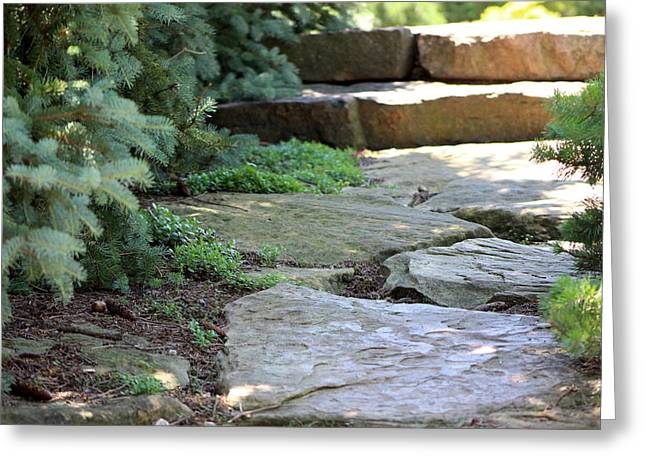 Garden Landscape - Stone Stairs Greeting Card