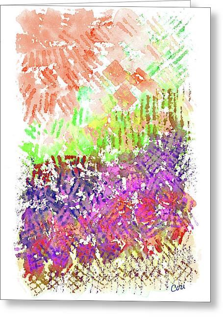 Garden Of Orange And Pink Greeting Card