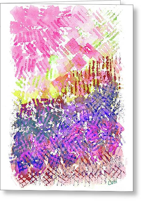 Garden Of Pink And Purple Greeting Card