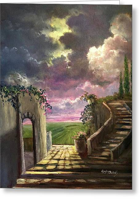 Garden Of The Ancients Greeting Card