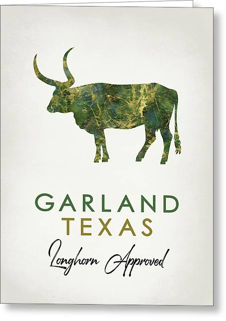 Garland Texas Dark Marble Greeting Card