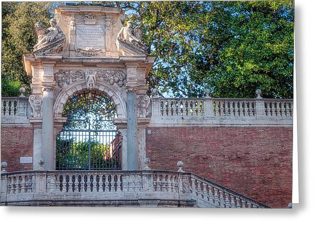 Gated Entrance Greeting Card
