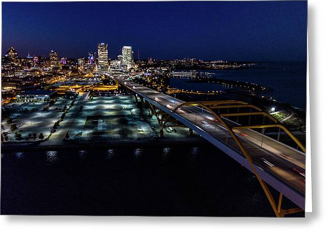 Greeting Card featuring the photograph Gateway To Milwaukee by Randy Scherkenbach