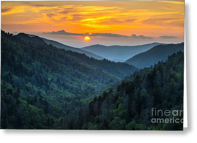Gatlinburg Tn Great Smoky Mountains Greeting Card
