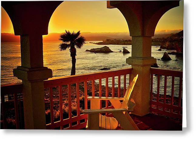 Gazebo View Of Central California Coast Greeting Card