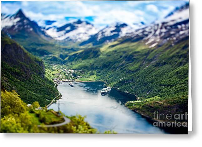 Geiranger Fjord, Beautiful Nature Greeting Card