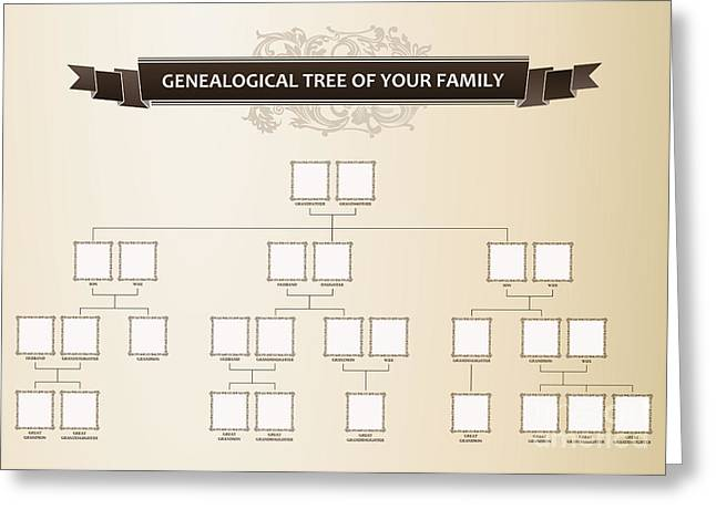 Genealogical Tree Of Your Family Greeting Card