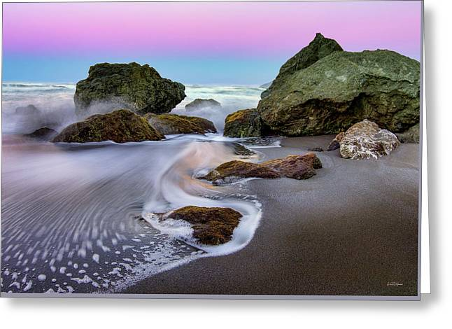 Greeting Card featuring the photograph Gentle Waves by Leland D Howard