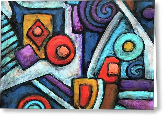 Geometric Abstract 4 Greeting Card