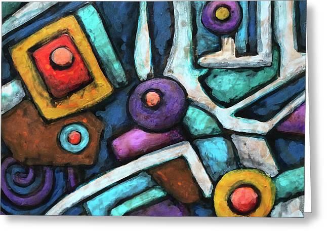 Geometric Abstract 6 Greeting Card