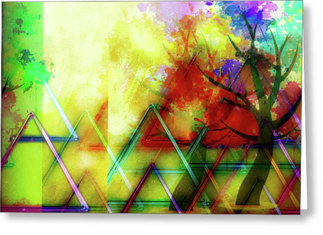 Geometric Abstract Greeting Card