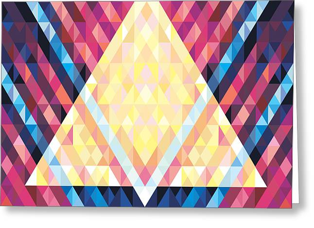 Geometric Background - Vector Seamless Greeting Card