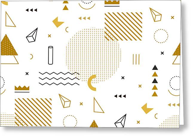 Geometric Gold Pattern For Fashion And Greeting Card