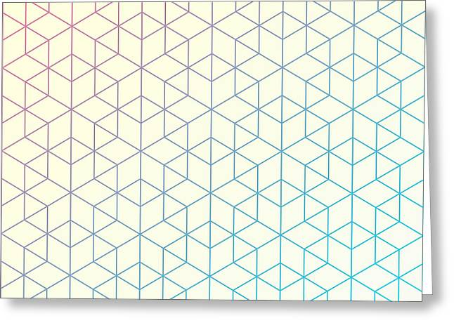 Geometric Pattern Of Intersecting Greeting Card