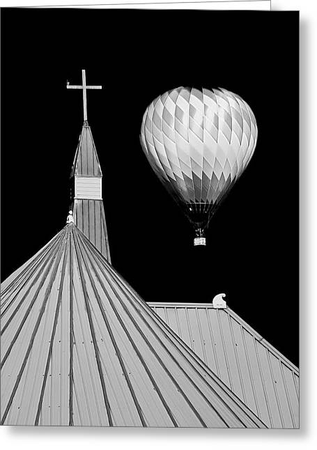 Geometric Patterns At Balloon Fest Greeting Card