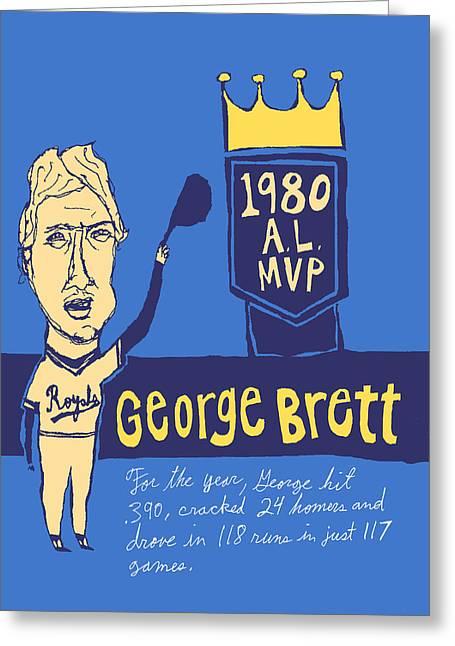 George Brett Kc Royals Greeting Card