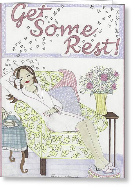 Get Some Rest Greeting Card